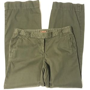 J Crew Army Green Gauchos Cropped Ankle Jeans 2P